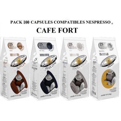 PACK CAFES FORT 100 CAPSULES