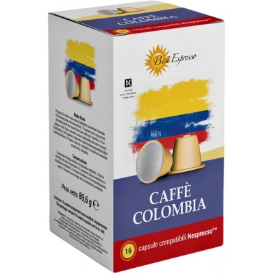 Colombien Capsule Café Compatible Machine à Café Nespresso® 100% Arabica Grand Cru x16 origine colombie