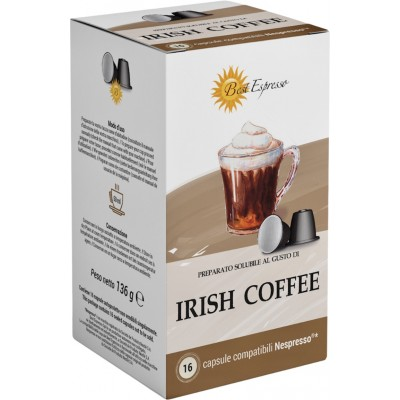 IRISH COFFEE Capsule Compatible Machiné à Café Nespresso® x16